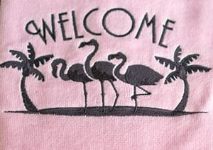 Flamingo Towels and Linen